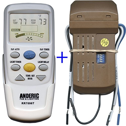 Anderic Add-on Thermostatic Remote Kit to Any 3-Speed Cei...