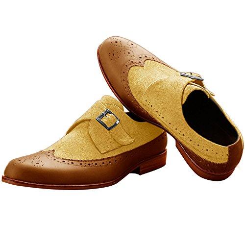 Itailor - Zapatos De Cordones De Gamuza En Ante De Cuero, Tono Marrón, Para Hombre, Marrón