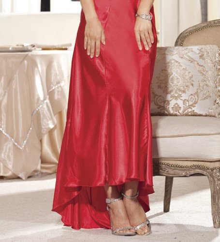 Shirley of Hollywood Charmeuse And Dye To Match Cut Out Lace Gown (20530)