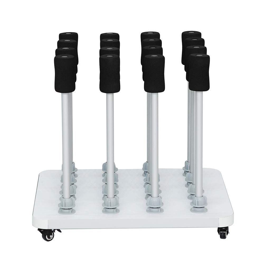 16 Roll Mobile Vinyl Rack for Clean and Storage The Workshop Material (2 Inch Core)