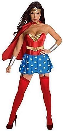 Disfraz Wonder Woman 5 Piezas Vestido Mangas Capa Corona ...