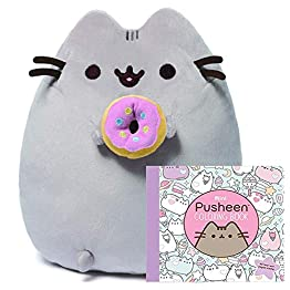 Pusheen Donut Plush - 9.5 Inches - With Coloring Book 9