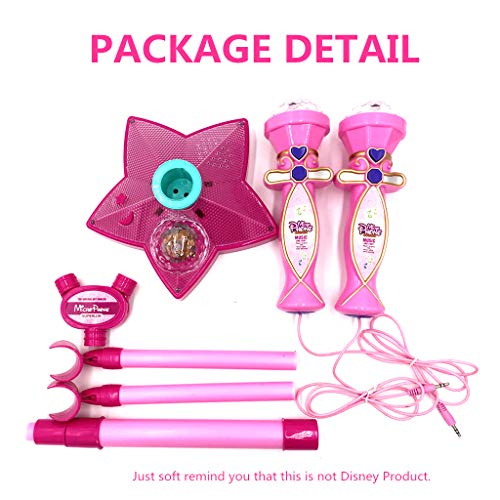 OceanEC Kids Karaoke Machine, Kids Karaoke Music Toy Play Set with Microphones, Bluetooth Connect to Your Electronic Devices for Music (2 Mics Pink) by OceanEC (Image #5)