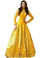 new anarkali salwar suit set for women | for party wear | gowns for women party wear | wedding wear-394( yellow color free size)