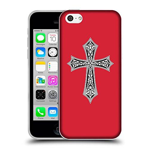 GoGoMobile Coque de Protection TPU Silicone Case pour // Q09190601 Croix chrétienne 29 Alizarine // Apple iPhone 5C