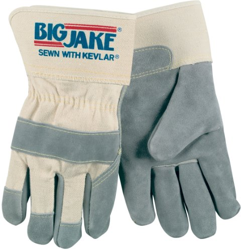 Jake Leather Big - Memphis glove 1700XXL Big Jake Cow Leather Sewn Kevlar Gloves with 2-3/4-Inch Safety Cuff, Natural Pearl, 2X-Large, 1-Pair