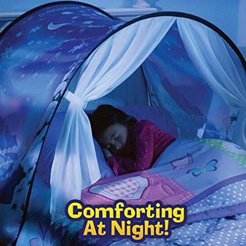 Meigirlxy Wonderland Bed Dream Tents Children, Magical Tent Kids Twin Bed Pop up