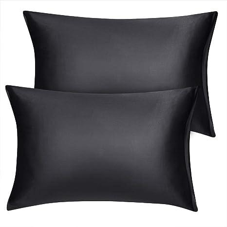 Amazon Com Uxcell Travel Satin Pillowcase With Zipper Super Soft