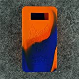 Case for SnowWolf Snow Wolf 200w Mod Silicone Skin Sleeve Skin Wrap Cover Sticker (blue/orange)