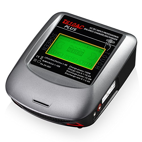 Powerextra RC Balance Charger 10A 100W AC/DC RC Hobby Battery Balance Charger Discharger for Li-Po Li-Hv Li-Ion Li-Fe NiMH Ni-Cd Pb (Battery Hobby Rc Batteries)