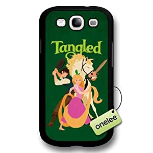 Cartoon Movie Disney Tangled Princess Rapunzel Hard Plastic Phone Case & Cover for Samsung Galaxy S3(i9300) - Black wangjiang maoyi