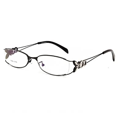 Amazon.com: Langford Fashion Fadeless Eyeglass Frames For Women 52mm ...