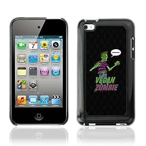 CQ Tech Phone Accessory: Carcasa Trasera Rigida Aluminio Para Apple iPod Touch 4 - Funny Vegan Zombie Grains LOL
