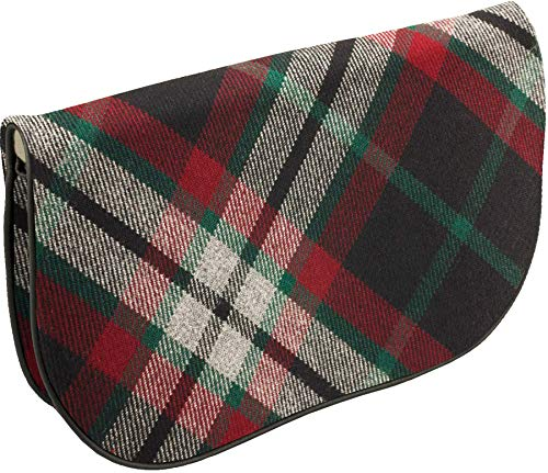 Back Large Clutch Bag with Pocket Inside with Leather Lindsay and Tartan zBrqzw