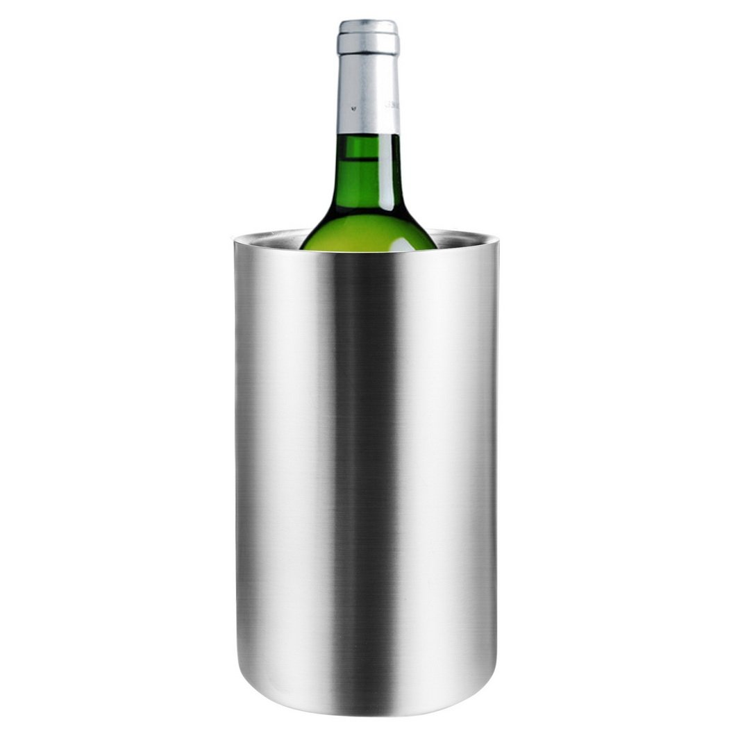 Hount Stainless Steel Ice Bucket Double Walled Wine Chiller