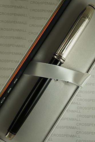 A Limited series Townsend Solid Sterling Silver and black Lacquer Barrel Gel Ink Rollerball Pen .Very Rare Collectible Made in Lincoln Rhode Island, USA ()
