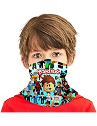Rob-Lox Seamless Face Cover Headband Scarf Tube Bandanas for Youth Boys/Girls Multi-Functional Full-Coverage