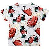 Cars Boys Polyester Round Neck Short Sleeves Tshirt - White (DCR0047)