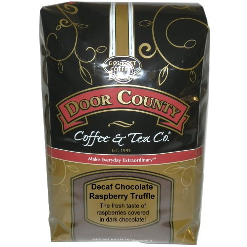 (Door County Coffee, Chocolate Raspberry Truffle Decaf, Ground, 5lb Bag)