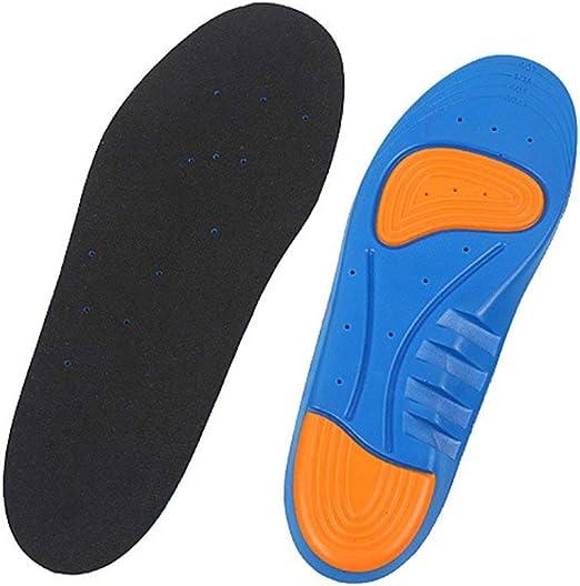 SEN L003 Zapatillas de Running Plantilla Transpirable Plantillas de Masaje de pies Mujeres Hombres Zapatos Plantilla Negro 36-40#: Amazon.es: Hogar