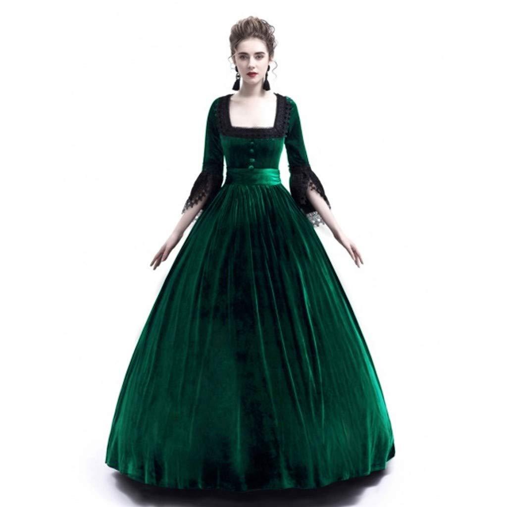 Amazon.com: Moda Renacimiento Medieval Vestido Vintage ...