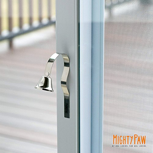 Mighty Paw Metal Potty Bell, An All Metal Dog Doorbell with Sleek Silver Bell and Support, The Thick-Walled Durable Bell Optimizes Sound Quality. Includes Free Training Tips by Mighty Paw (Image #1)