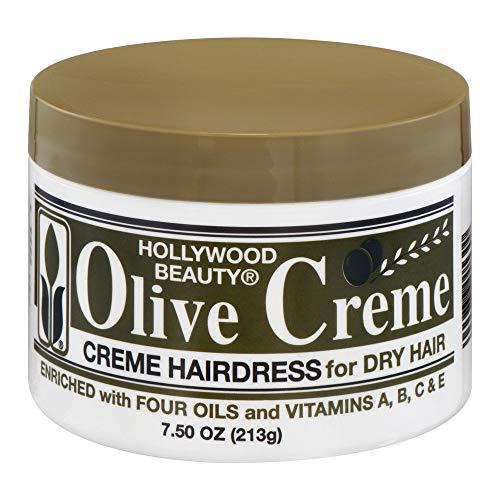 Hollywood Beauty Olive Cream Hairdress Hollywood Beauty Cream Unisex 7.5 oz (Pack of 2)