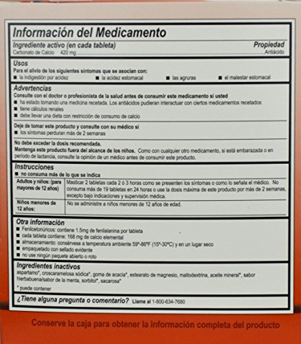 Amazon.com: 8310574 PT# 10147 Alcalak Tablet Antacid 420mg 100x2/Bx Made by Medique Pharmaceuticals: Industrial & Scientific