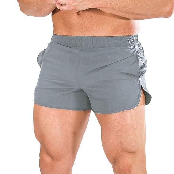 YEBIRAL Pantalones Cortos Hombre, Verano Bañador de natación ...