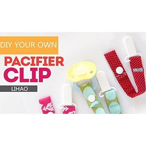 LIHAO 50x Pacifier Clips Holders for Teething Toys Baby Blankets - 10 Colors