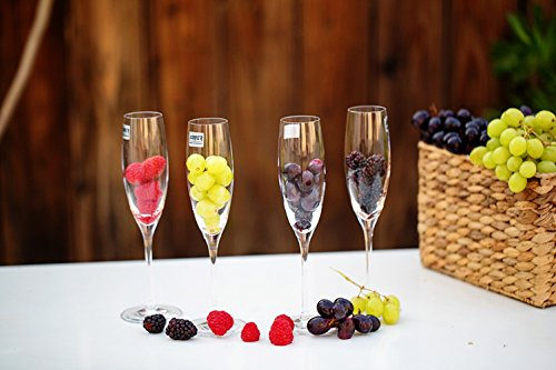Könner Stemware Lead Free Crystal Wine Glasses, Bordeaux Wine Glasses, Burgundy Wine Glasses, Champagne Glasses, Good for Red Wine, White Wine (Champagne)