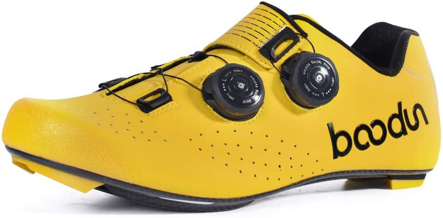 Zapatillas de Ciclismo para Hombre, Zapatillas de Ciclismo de Carretera Profesionales Zapatillas de Carreras de Carretera Unisex Transpirables Ligeras,Amarillo,45EU: Amazon.es: Hogar
