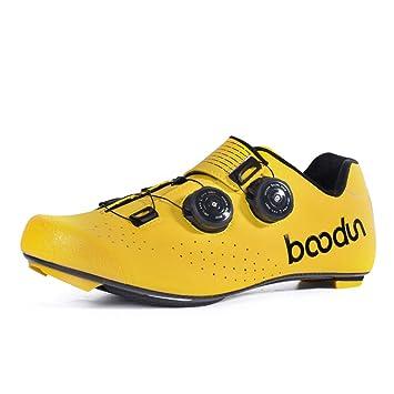 Zapatillas de Ciclismo para Hombre, Zapatillas de Ciclismo de Carretera Profesionales Zapatillas de Carreras de Carretera Unisex Transpirables Ligeras ...
