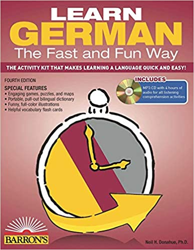 Fast In German >> Amazon Com Learn German The Fast And Fun Way With Mp3 Cd Barron S
