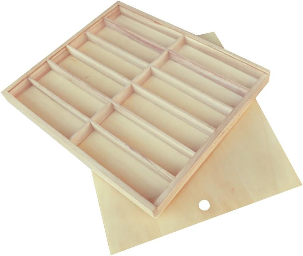 Playbox - Madera Caja Tapa Deslizante - 39 x 30 x 4 cm (PBX2470380): Amazon.es: Juguetes y juegos
