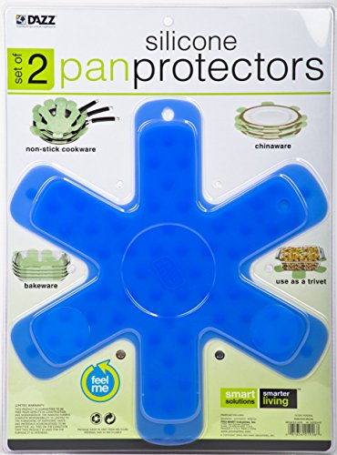 Pro-Mart Silicone Pan and Plate Protector (Set of 2), Small/Medium, Blue