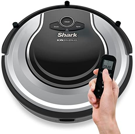 Shark ION Robot Dual-Action Robot Vacuum Cleaner with 1-Hour Plus of Cleaning Time, Smart Sensor Navigation and Remote Control RV720