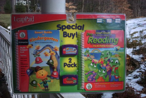 LeapFrog LeapPad 2 Pack Interactive Books & Cartridges: Smart Guide to Kindergarten & Pre-Reading The Birthday Surprise by LeapPad Leap Pad