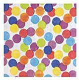 Cocktail Napkins - 150-Pack Luncheon Napkins, Disposable Paper Napkins, Rainbow Polka Dot Party Supplies for Kids Birthdays, 2-Ply, Unfolded 13 x 13 Inches, Folded 6.5 x 6.5 Inches