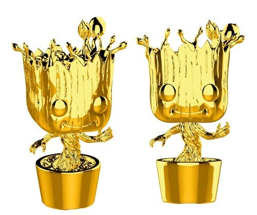 Funko Pop! Groot Gold Chrome Guardians of the Galaxy Marvel