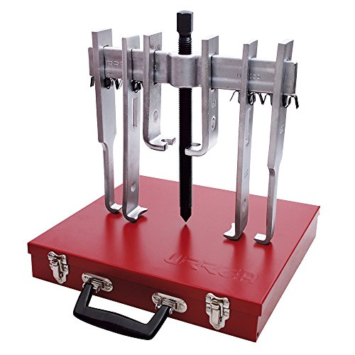 URREA 4234B  Straight Jaw Puller  10 Ton with Metal Box, 12-Piece (Puller Straight)