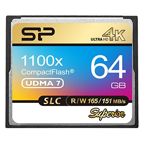 Silicon Power SP SLC NAND Flash Superior CF 1100X VPG-65 Compact Flash Card (SP064GBCFC1K1V10) by Silicon Power (Image #4)