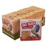 Suet to Go Wild Bird Peanut and Cherry Value Suet, 300 g, Pack of 10