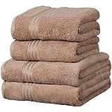 4 toallas para invitados - 100% extraordinario algodón egipcio - Café con leche