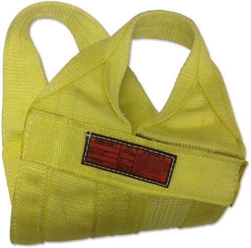 Stren-Flex-WB1-908-4-Type-8-Heavy-Duty-Nylon-Cargo-Basket-Web-Sling-1-Ply-25600-lbs-Basket-Hitch-Capacity-4-Length-x-8-Width-Yellow