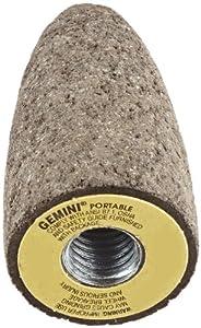 "Norton Gemini 57A24-R Type 18 Abrasive Grinding Cone, Aluminum Oxide, 24190 rpm, 1-1/2 Diameter x 3"" Thickness, 5/8""-11 Arbor, 24 Grit (Pack of 1)"