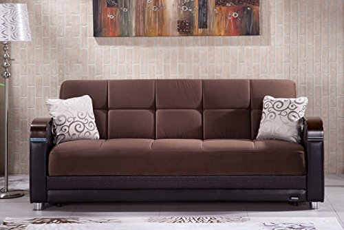 Luna Naomi Brown Convertible Sofa Bed by Sunset