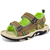 GAXmi Boys Sandals Summer Beach Fisherman Shoes for Toddler Little Big Kid, Green, Big Kid 5 M