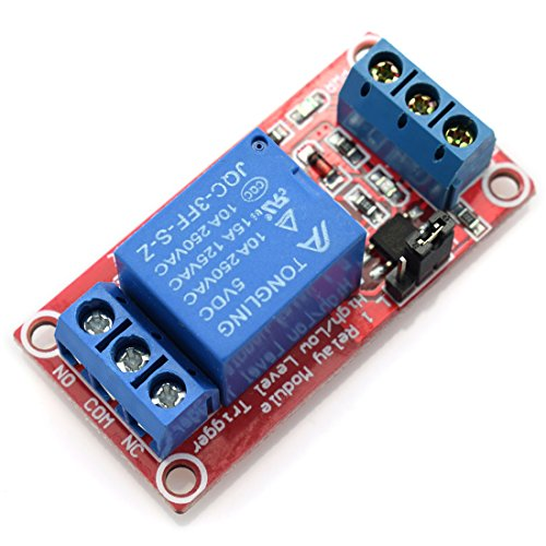 (DZS Elec 5V 1 Channel Relay Optocoupler Isolation Module Red Board 3-5V High and 0-1.5V Low Level Triggered Load AC 0-250V / DC 0-30V 10A SCM IO Control)