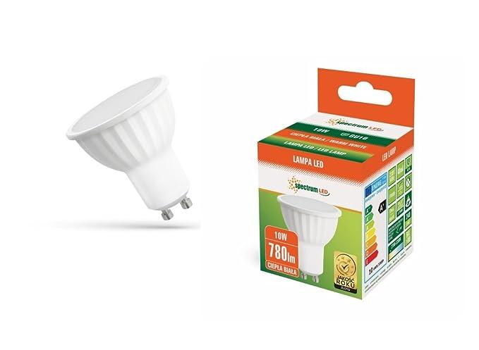 Bombilla Dicroica LED GU10 10W 120/º Cer/ámica Blanco c/álido